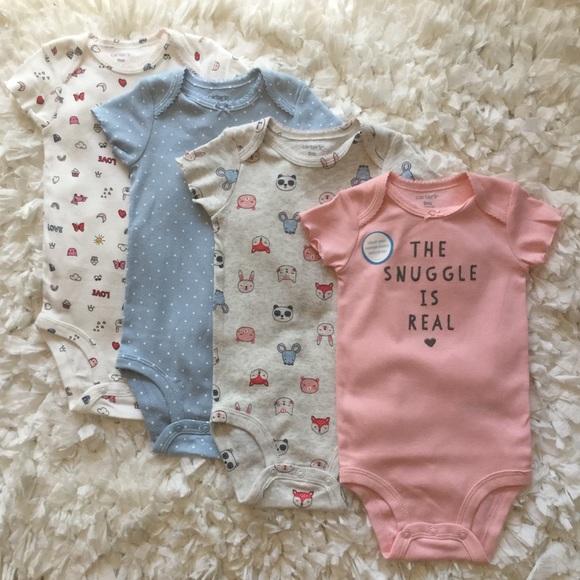 Nwot Just One You Carter's 9 Month Long Sleeve One Piece Top Shirt Boy Set Bear Boys' Clothing (newborn-5t)